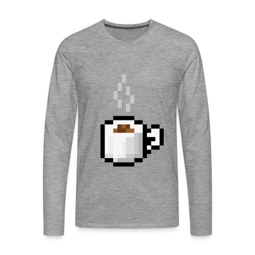 Pixelkaffe - Långärmad t-shirt - Långärmad premium-T-shirt herr