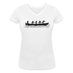 Pretty maids all in a row - Women's Organic V-Neck T-Shirt by Stanley & Stella