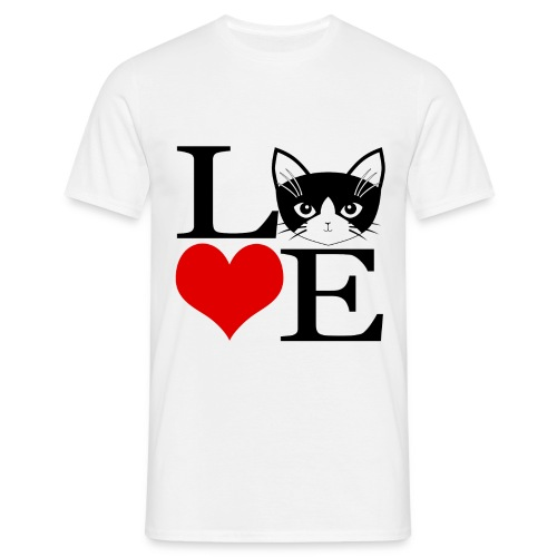 Love cat - T-shirt Homme