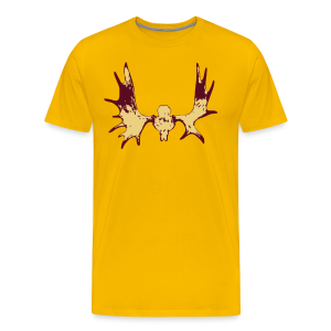 Elk Horns - Don't get shot Yellow - Men's Premium T-Shirt