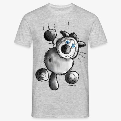 Camiseta con gato agarrándose - Camiseta hombre