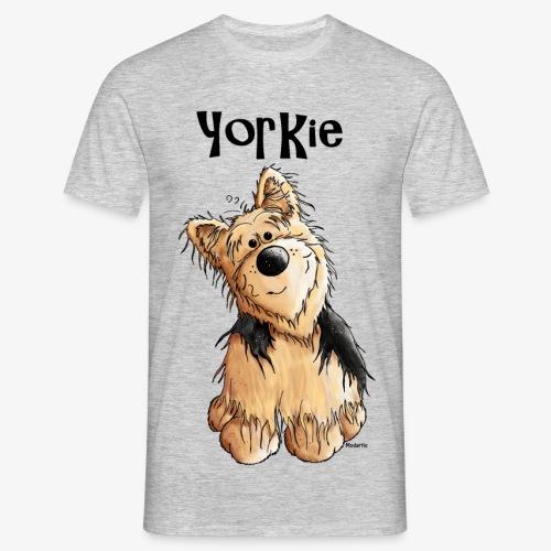 Hombre-Camiseta con dibujo de perro Yorkshire Terrier - Camiseta hombre