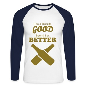 Men's Long Sleeve Baseball T-Shirt - Men's Long Sleeve Baseball T-Shirt