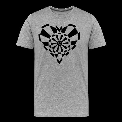 Dartscheiben Herz - Männer Premium T-Shirt