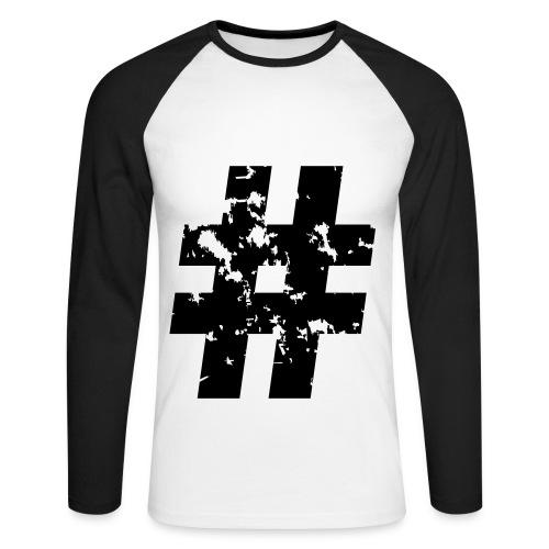 Hashtag - Men's Long Sleeve Baseball T-Shirt