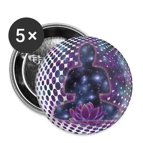 Button - Buddha 5 pack - Buttons mittel 32 mm