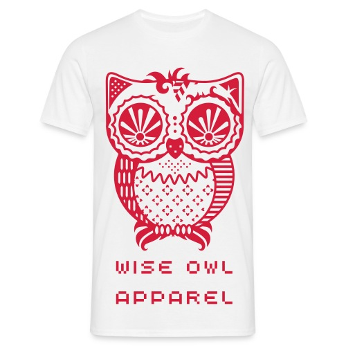 Patchwork Owl - Men's T-Shirt