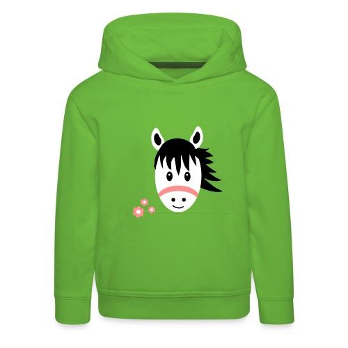 Cute Pony with Flowers Kids Horse Hoodie - Kids' Premium Hoodie