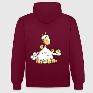 Drôle Poulet  Sweat-shirts - Sweat-shirt contraste