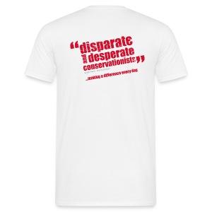 BAWC Disparate & Desperate Quote Men's White T-Shirt - Men's T-Shirt