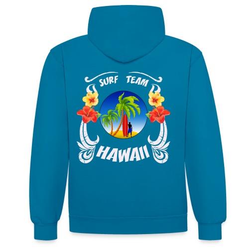 Hawaii surf team - Contrast Colour Hoodie