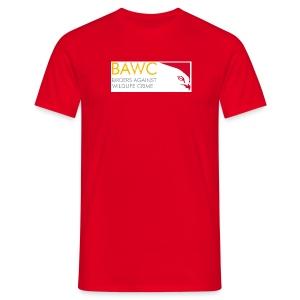 BAWC Horizontal Logo Men's Red T-Shirt - Men's T-Shirt