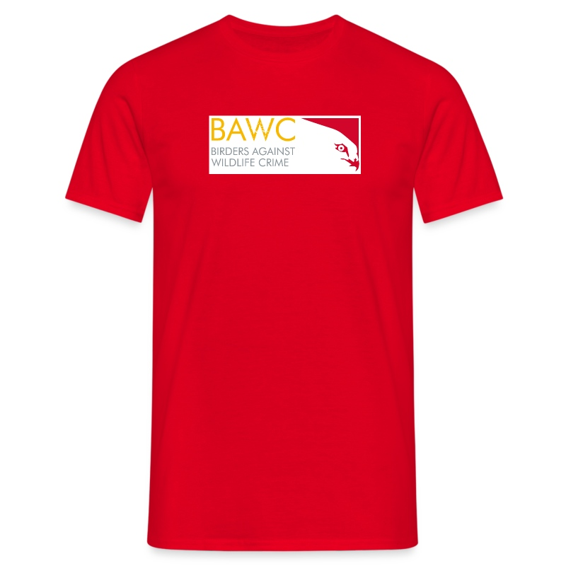 BAWC Horizontal Logo Men's Red T-Shirt - Men's T-Shirt