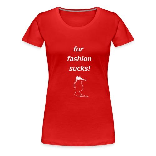 White Fox Damen Shirt - Frauen Premium T-Shirt