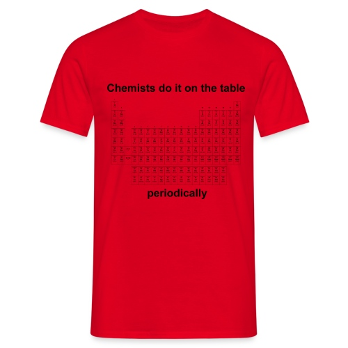 Chemists do it on the table - Herren T-Shirt rot - Männer T-Shirt