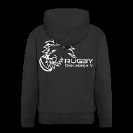 Pullover & Hoodies ~ Männer Premium Kapuzenjacke ~ Kapuzenjacke schwarz Männer Rugby Club Leipzig