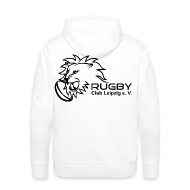 Pullover & Hoodies ~ Männer Premium Kapuzenpullover ~ Kapuzenpullover weiß Männer Rugby Club Leipzig