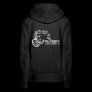 Pullover & Hoodies ~ Frauen Premium Kapuzenpullover ~ Kapuzenpullover schwarz Frauen Rugby Club Leipzig