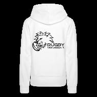 Pullover & Hoodies ~ Frauen Premium Kapuzenpullover ~ Kapuzenpullover weiß Frauen Rugby Club Leipzig