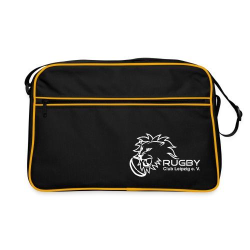 Tragetasche schwarz mit weißem Rugby Club Leipzig Logo - Retro Tasche