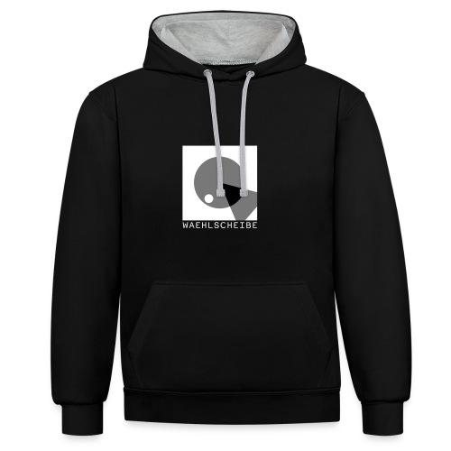 Hoodie (Männer) // Aussen: Schwarz, Innen: Grau (Flexdruck) - Kontrast-Hoodie