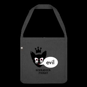 tasche, evil kater - Schultertasche aus Recycling-Material