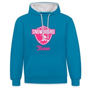 Snowboard team badge