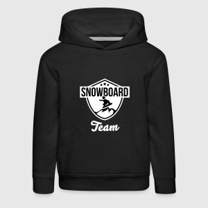 Snowboard team badge Pullover & Hoodies - Kinder Premium Hoodie