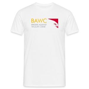 BAWC Logo and #weseeyou Hashtag Men's White T-Shirt - Men's T-Shirt