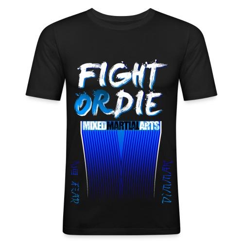 MMA - Dim-Mak - Blu - Maglietta aderente da uomo