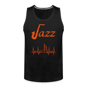 Men's Premium Tank Top Jazz Music Themed Print - Men's Premium Tank Top