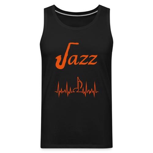 Men's Premium Tank Top Jazz Music Themed Print - Men's Premium Tank Top