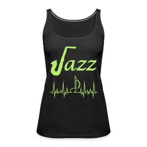 Women's Premium Tank Top Jazz Music Themed Print - Women's Premium Tank Top