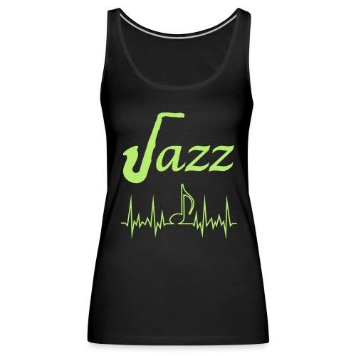 Women's Premium Tank Top Jazz Music Themed Print - Women's Premium Tank Top