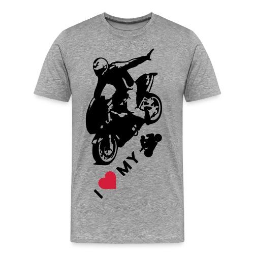 I LOVE MOTO - Koszulka męska Premium
