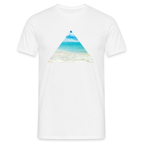 Beach Triangle T-Shirts - Männer T-Shirt