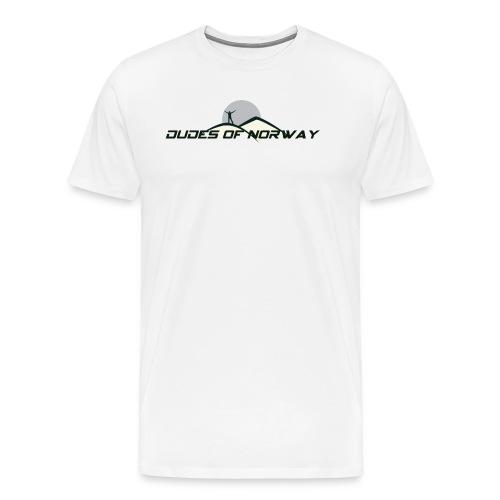 DUDES OF NORWAY LOGO - Premium T-skjorte for menn