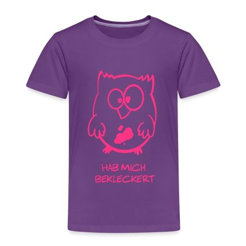 Eule / Hab mich bekleckert lustiges T-Shirt - Kinder Premium T-Shirt