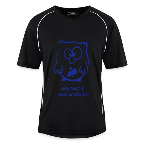 Eule / Hab mich bekleckert lustiges T-Shirt - Männer Fußball-Trikot