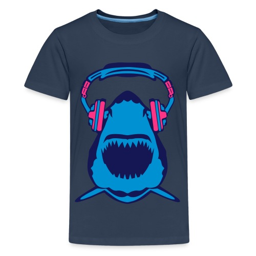 Shark Beats T-Shirt - Teenage Premium T-Shirt