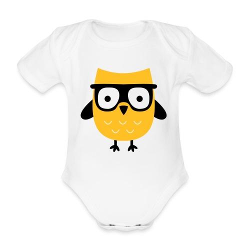 nerd eule - Baby Bio-Kurzarm-Body