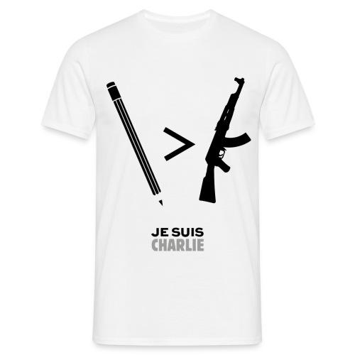 Tee Shirt Presse plus fort que les armes - T-shirt Homme