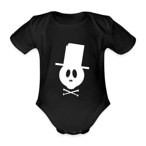 Bonehead white kids  - Baby Bio-Kurzarm-Body