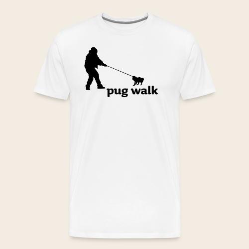 Pug Walk Männer Shirt - Männer Premium T-Shirt