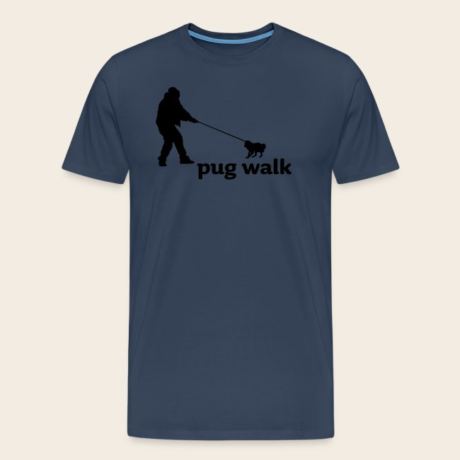 Pug Walk Männer Shirt