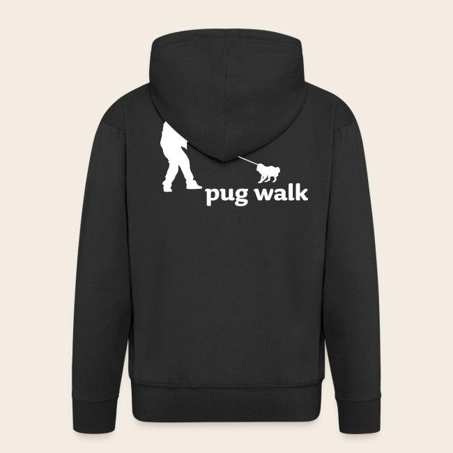 Pug Walk Männer Kapuzenjacke