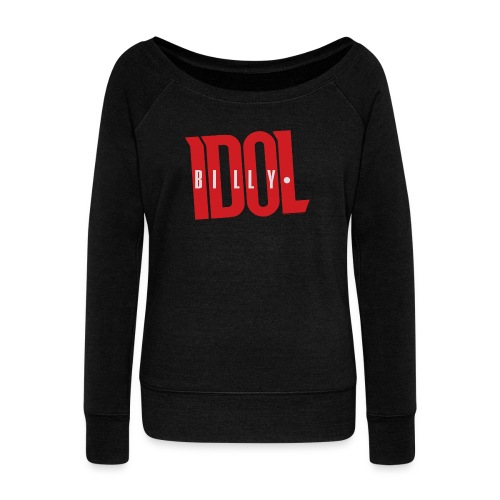 Billy Idol - Women's Boat Neck Long Sleeve Top