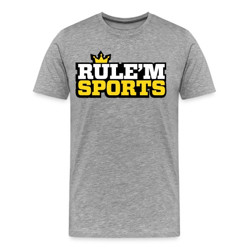 Men's Premium T-Shirt - Limited Edition RULE'M SPORTS Men's T-shirt, Digital Direct Print.