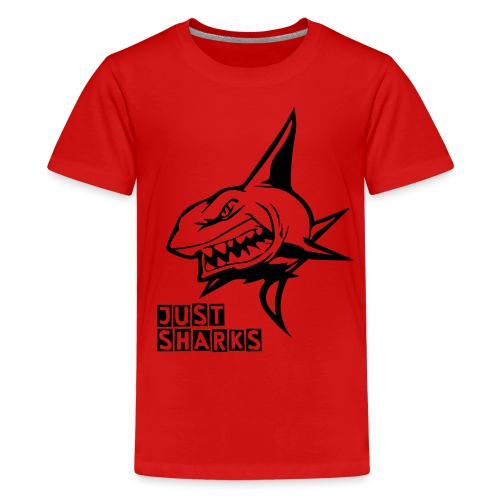 Red Killer Sharks T-Shirt - Teenage Premium T-Shirt