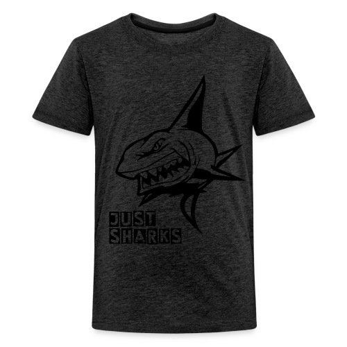 Orange Killer Shark T-Shirt - Teenage Premium T-Shirt